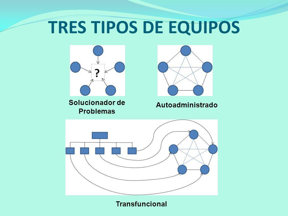 TRES TIPOS DE EQUIPOS Solucionador de Problemas Autoadministrado Transfuncional