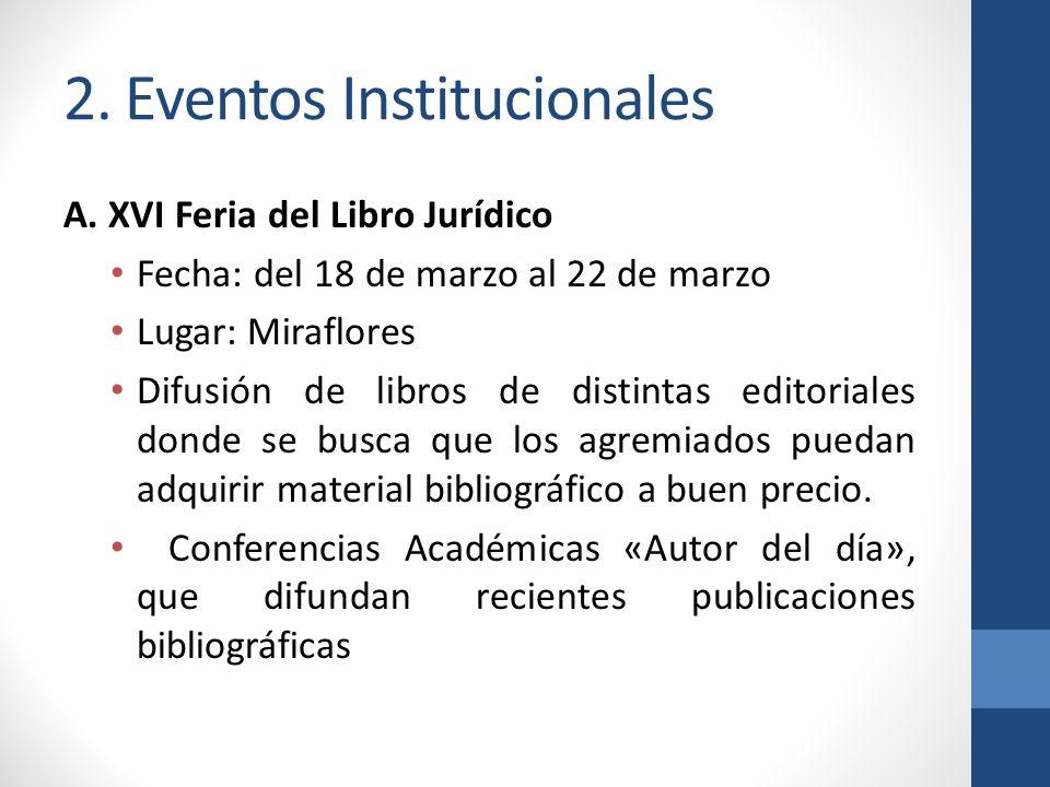 2. Eventos Institucionales A.