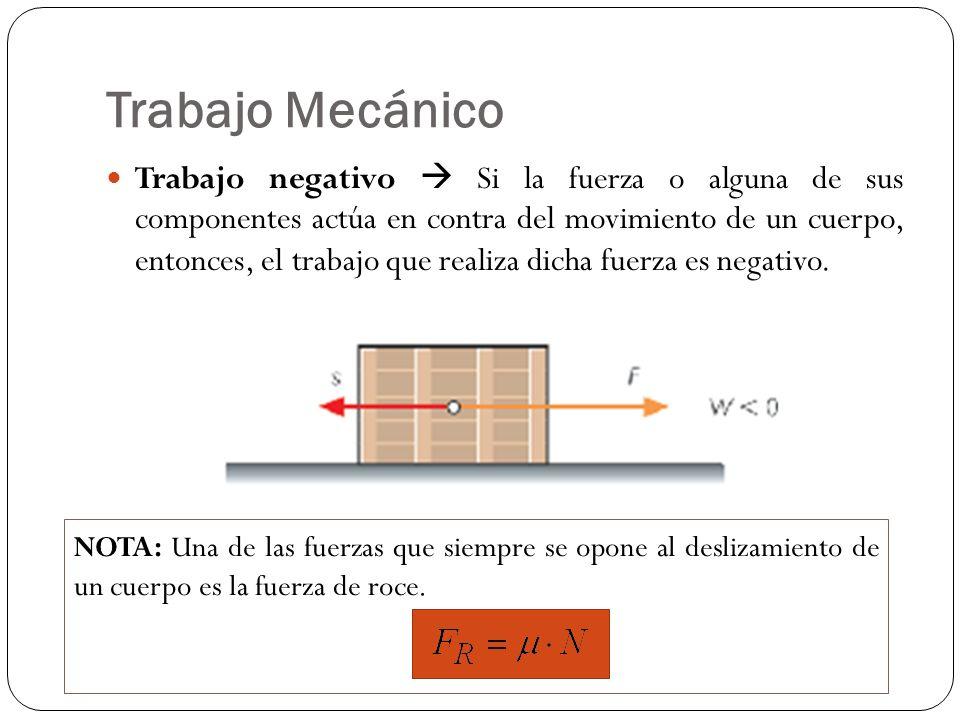 Ejemplo n°1 Para los distintos valores del ángulo, calcular el trabajo de una fuerza F = 10 [N] aplicada a un cuerpo que se desplaza 10 [m] hacia la derecha.