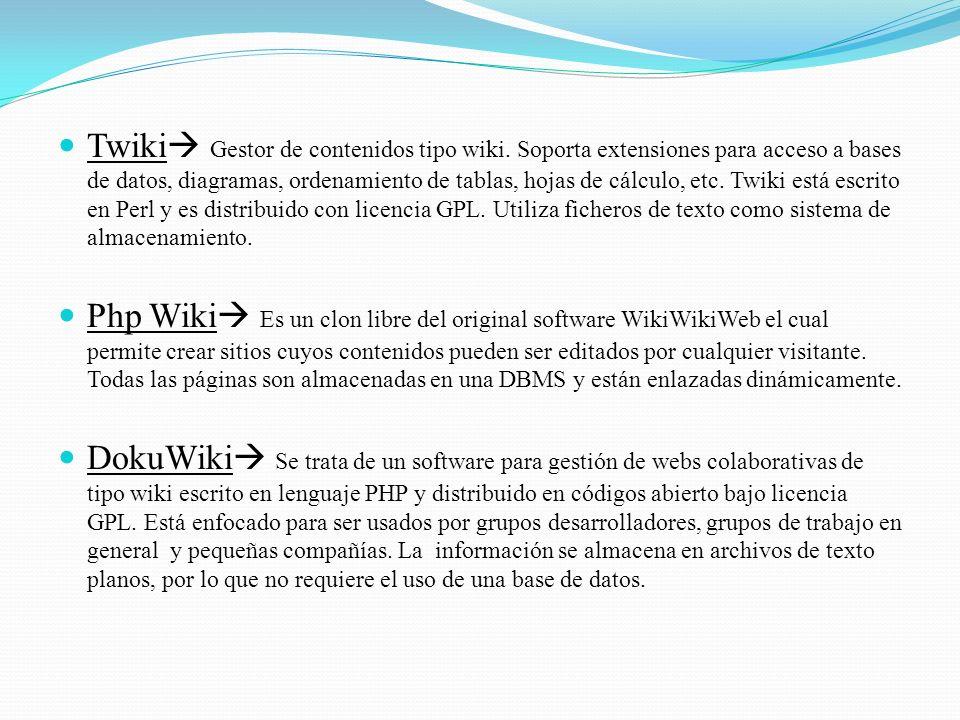 Twiki Gestor de contenidos tipo wiki.