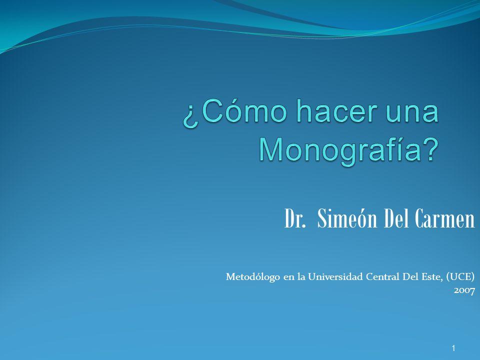 Dr. Simeón Del Carmen Metodólogo en la Universidad Central Del Este, (UCE) 2007 1