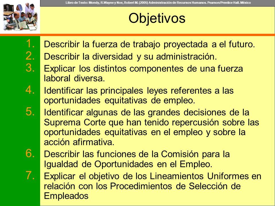 Libro de Texto: Mondy, R.Wayne y Noe, Robert M. (2005) Administración de Recursos Humanos. Pearson/Prentice Hall. México Objetivos 1. Describir la fue