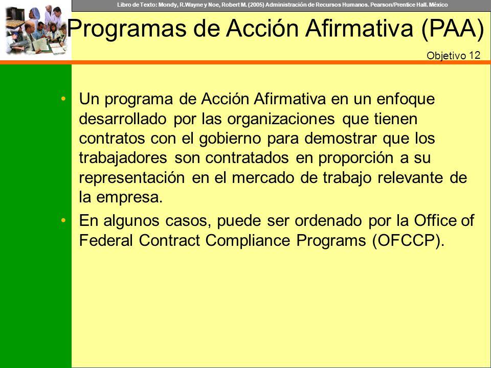Libro de Texto: Mondy, R.Wayne y Noe, Robert M. (2005) Administración de Recursos Humanos. Pearson/Prentice Hall. México Un programa de Acción Afirmat