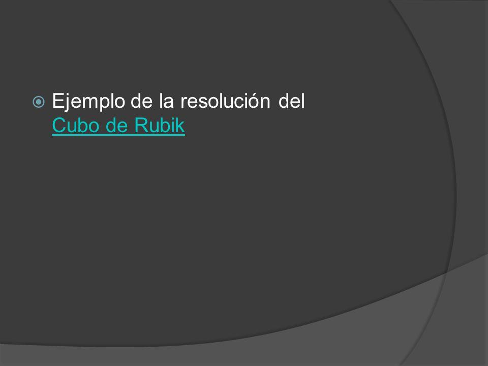 Ejemplo de la resolución del Cubo de Rubik Cubo de Rubik