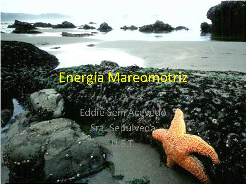 Energía Mareomotriz Eddie Sein Acevedo Sra. Sepúlveda U.E.T.