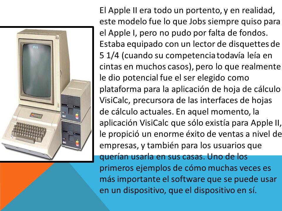 El Apple II era todo un portento, y en realidad, este modelo fue lo que Jobs siempre quiso para el Apple I, pero no pudo por falta de fondos. Estaba e
