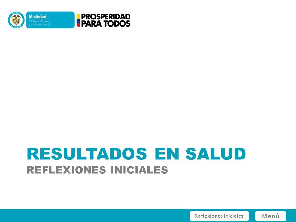 Colombia 2000 - 2010 Fuente: Ministerio de Salud y Protección Social con datos DANE.