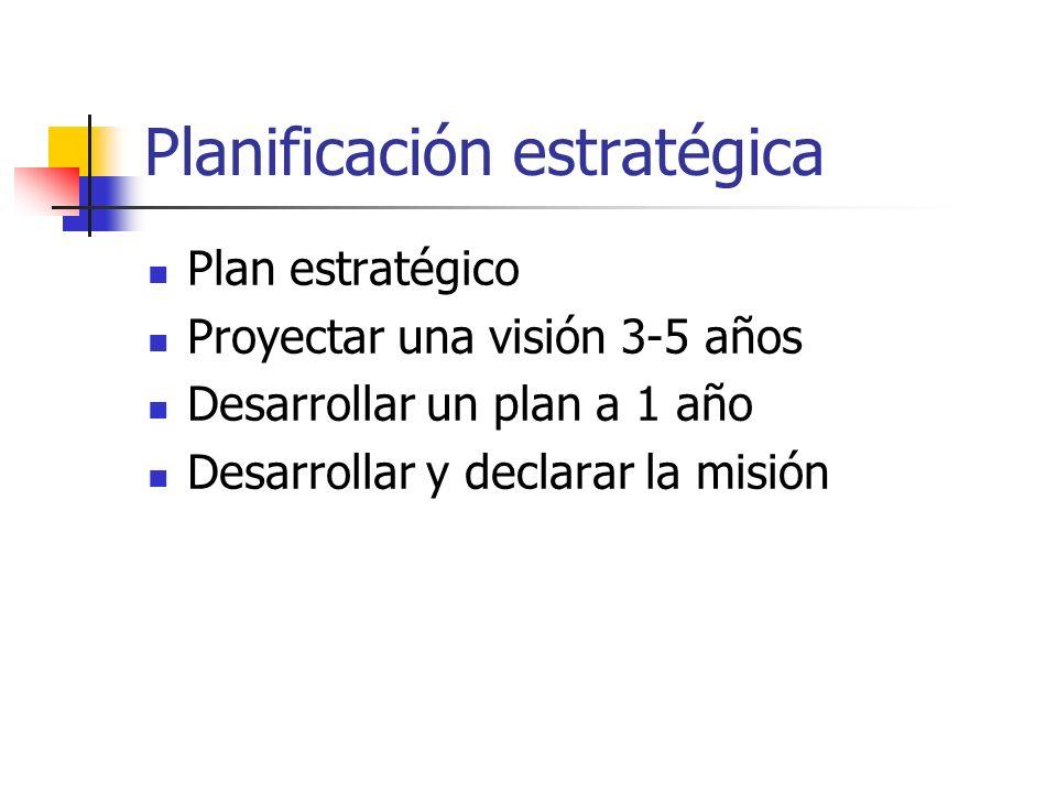 Directrices generales: Misión: Define la razón de ser de la organización (establece qué hace y para qué).