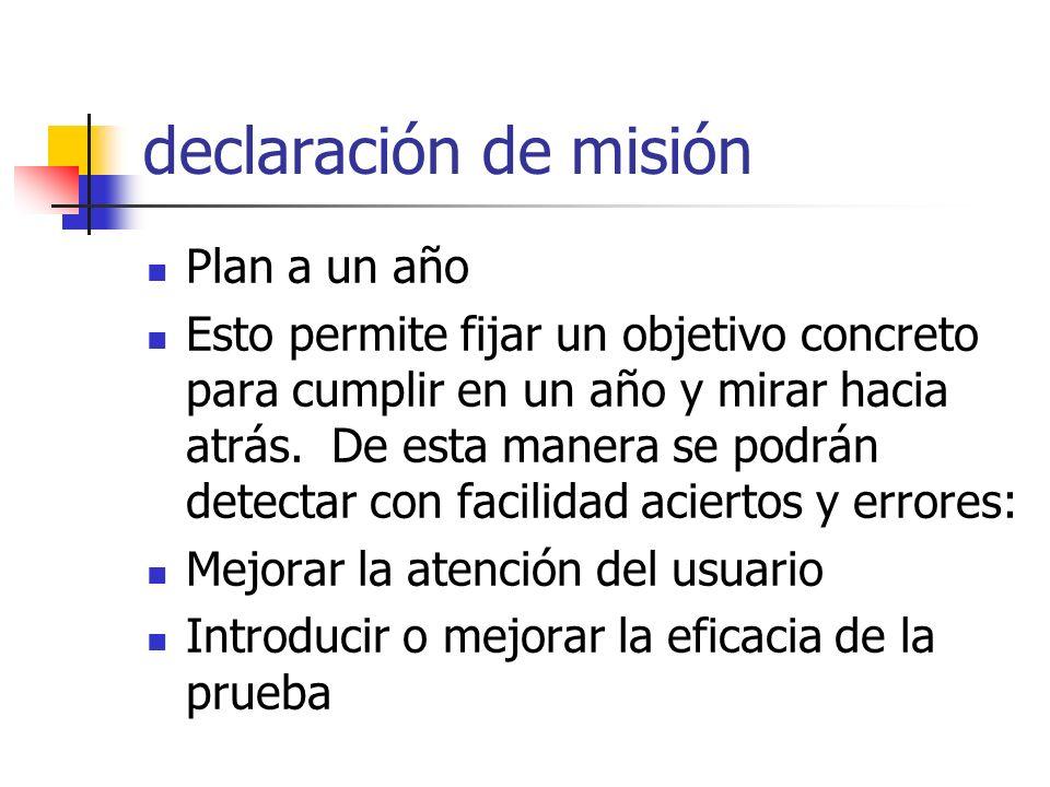 Declaración de la misión: Ofrecer el mejor servicio del laboratorio para la Sociedad de Cali Con serios programas de control de calidad y pruebas eficaces.