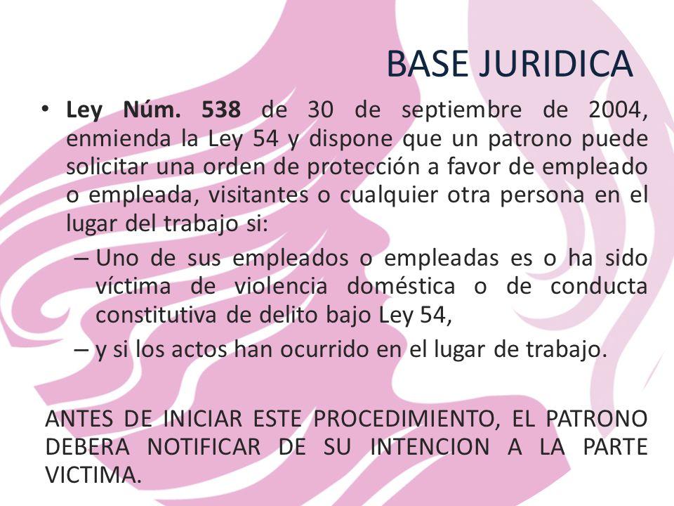 BASE JURIDICA Ley Núm.