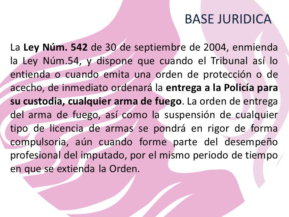 BASE JURIDICA La Ley Núm.