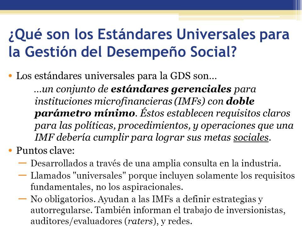 ¿Qué son los Estándares Universales para la Gestión del Desempeño Social.