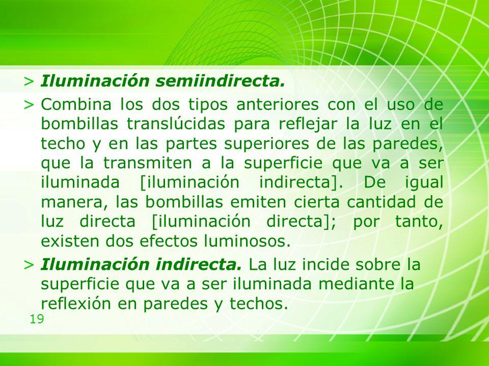 19 >Iluminación semiindirecta.