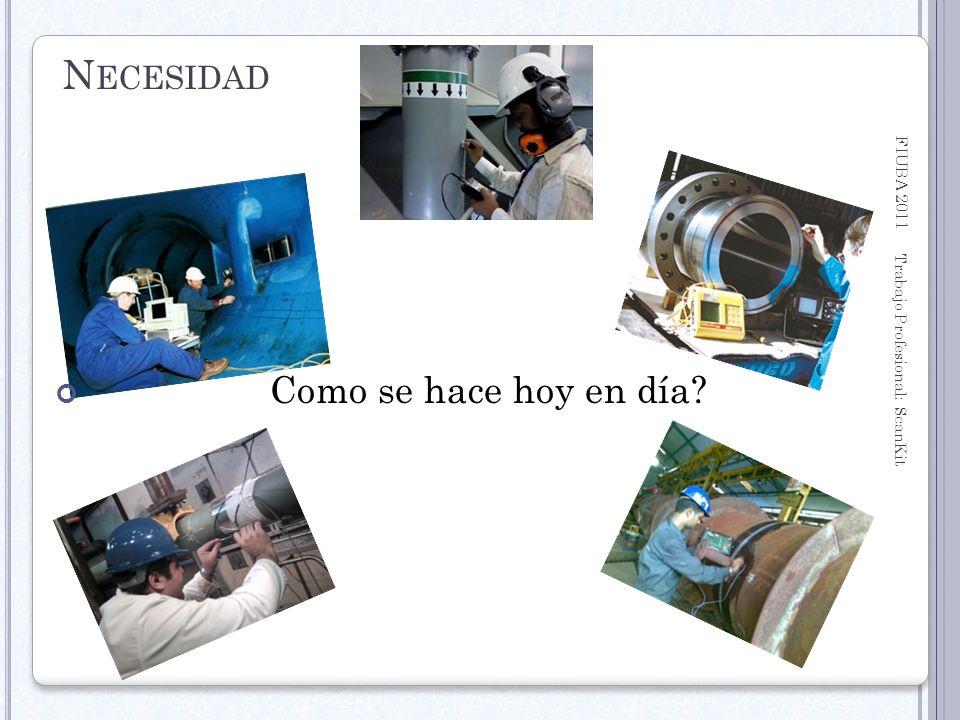 FIUBA 2011 Trabajo Profesional: ScanKit 8 N ECESIDAD Como se hace hoy en día?