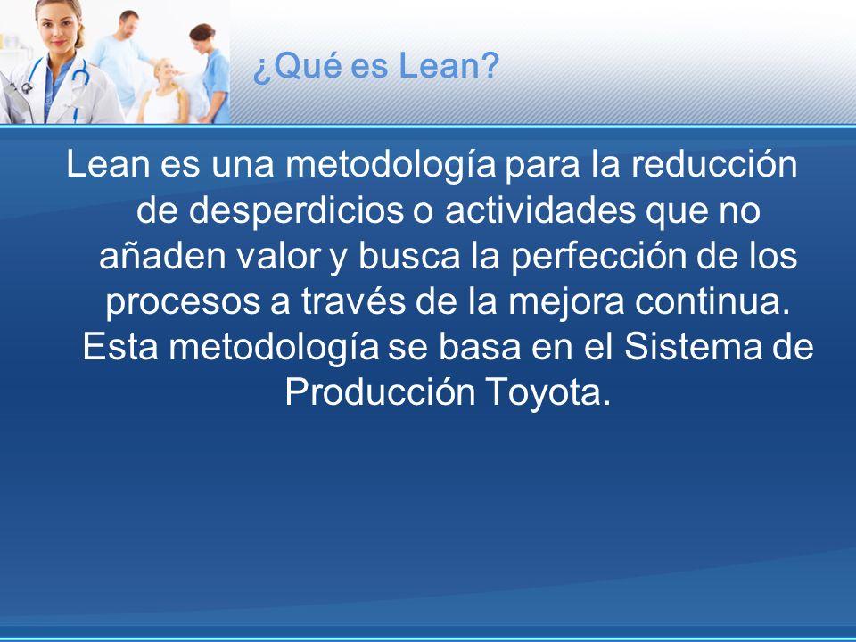 ¿Qué es Lean? Lean es una metodología para la reducción de desperdicios o actividades que no añaden valor y busca la perfección de los procesos a trav