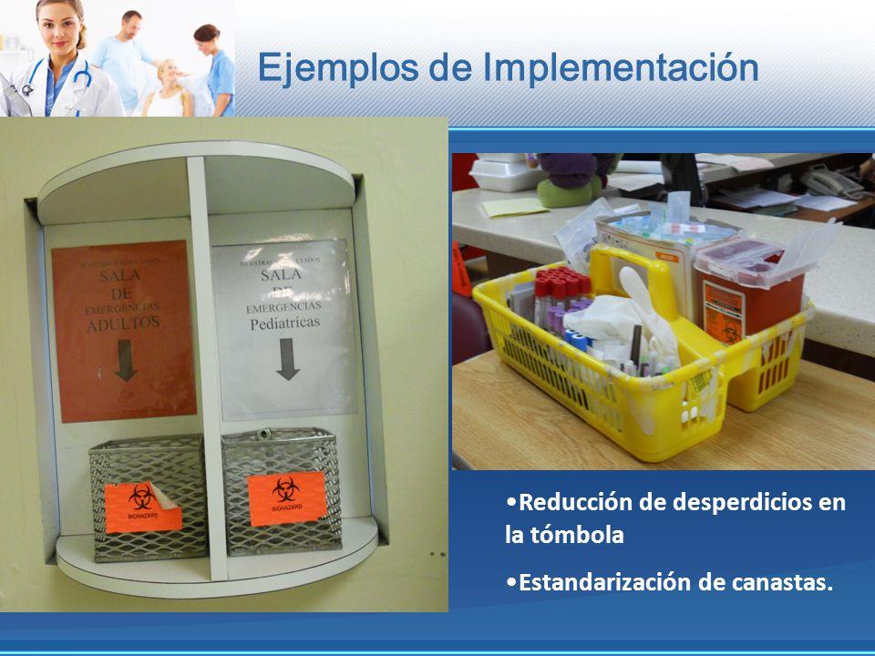Ejemplos de Implementación Reducción de desperdicios en la tómbola Estandarización de canastas.