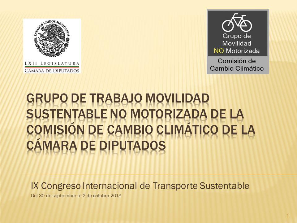IX Congreso Internacional de Transporte Sustentable Del 30 de septiembre al 2 de octubre 2013 1