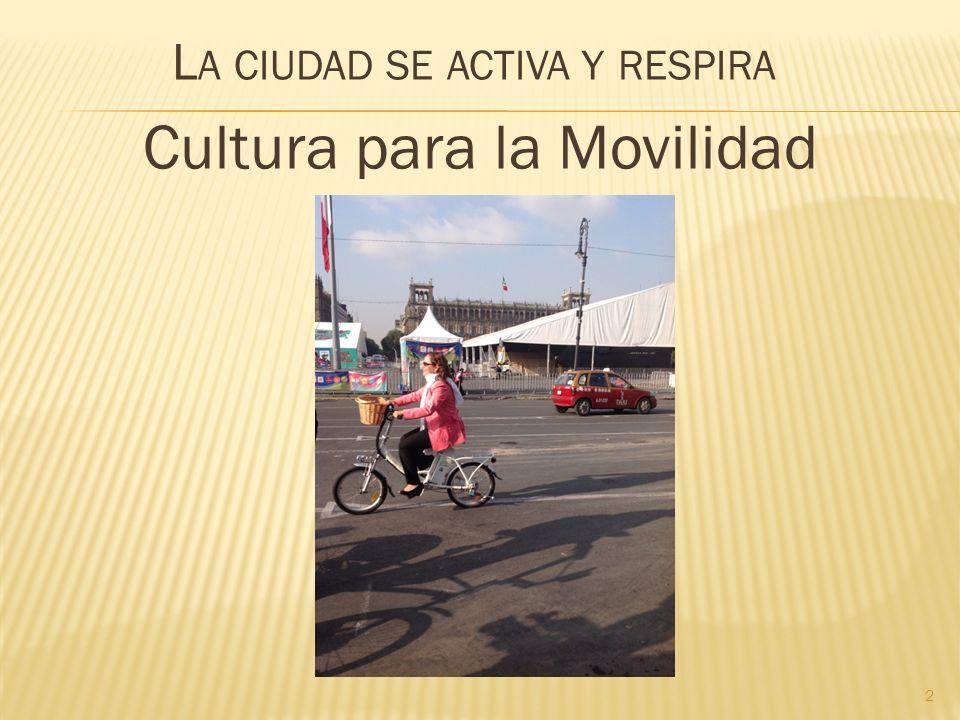 L A CIUDAD SE ACTIVA Y RESPIRA Cultura para la Movilidad 2