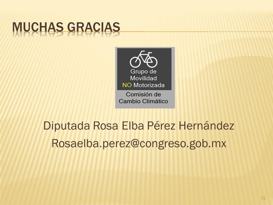 Diputada Rosa Elba Pérez Hernández Rosaelba.perez@congreso.gob.mx 31