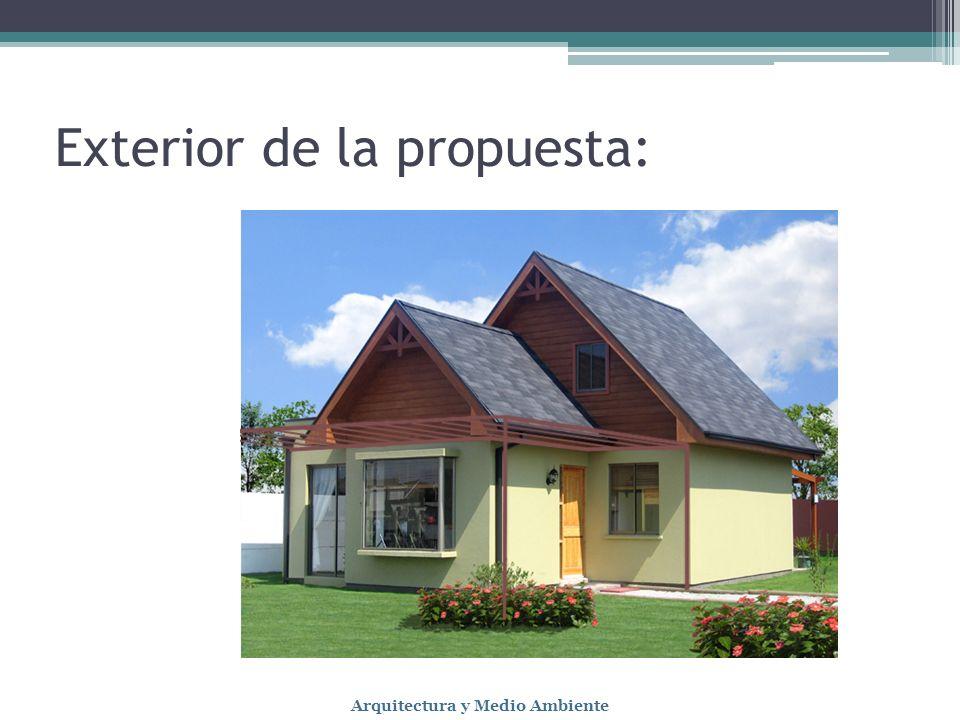 Exterior de la propuesta: Arquitectura y Medio Ambiente