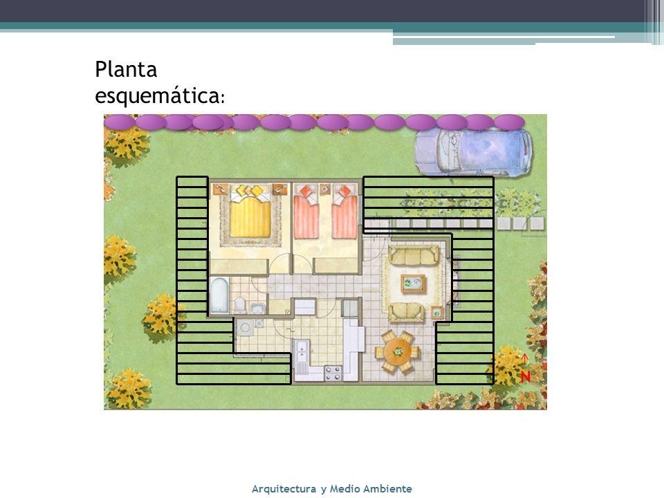 Planta esquemática : Arquitectura y Medio Ambiente N
