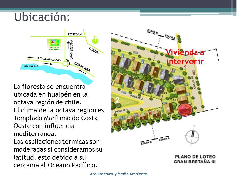 Ubicación: La floresta se encuentra ubicada en hualpén en la octava región de chile. El clima de la octava región es Templado Marítimo de Costa Oeste