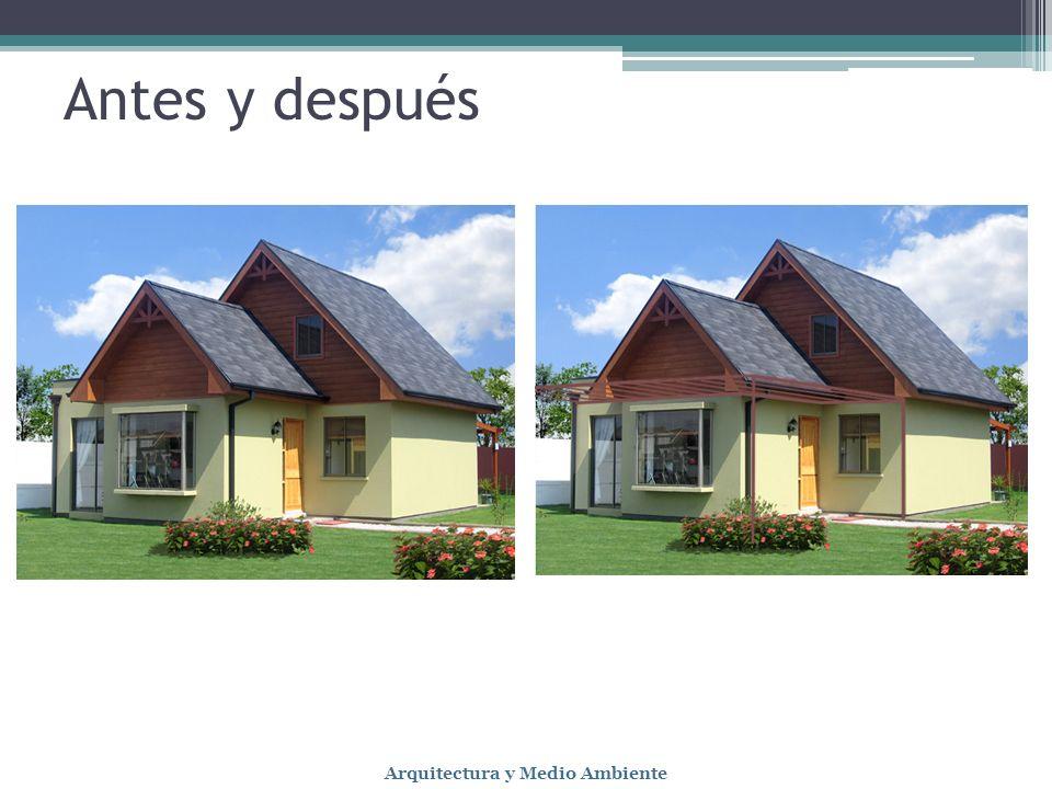 Antes y después Arquitectura y Medio Ambiente