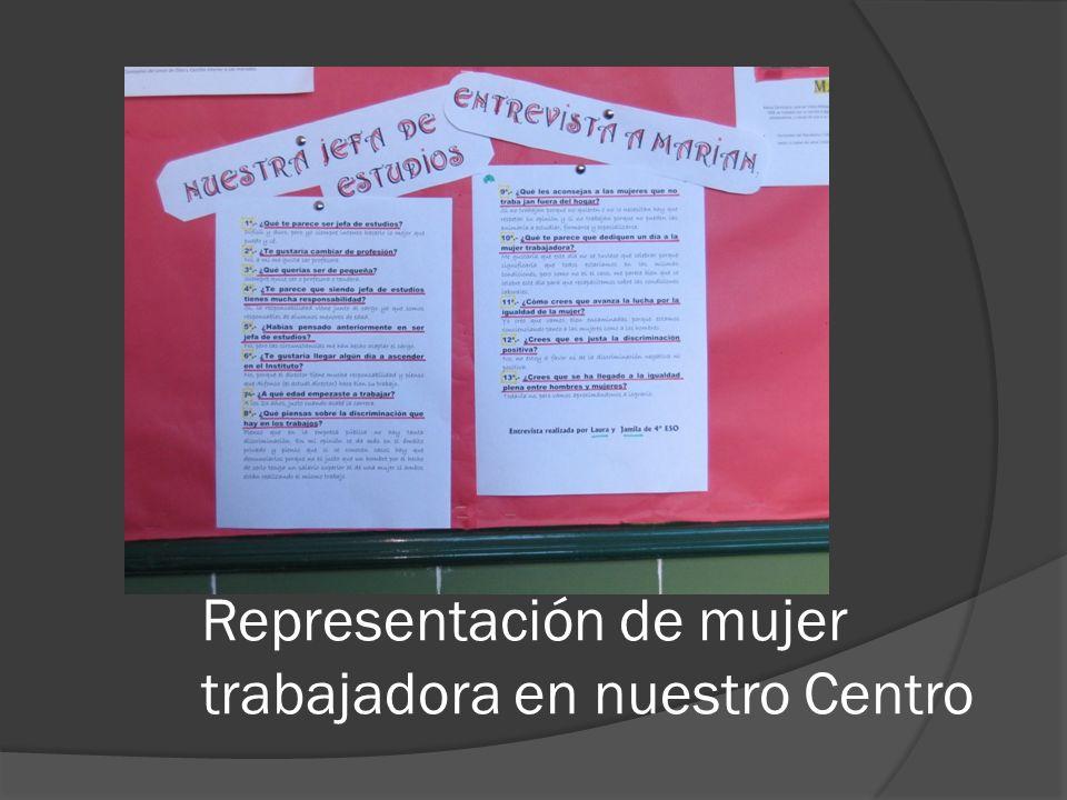 Representación de mujer trabajadora en nuestro Centro