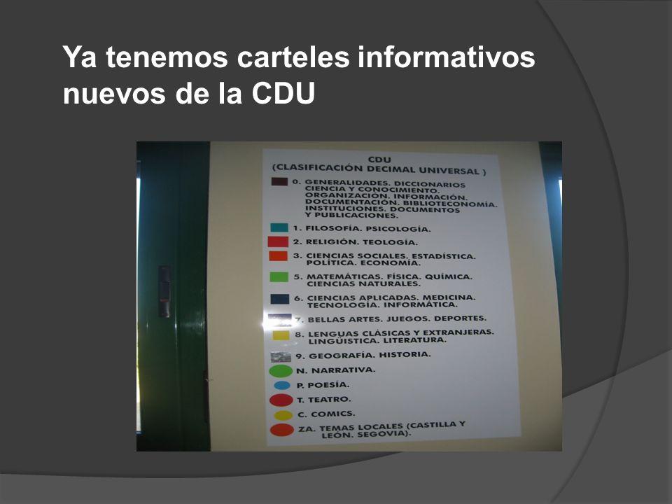 Ya tenemos carteles informativos nuevos de la CDU
