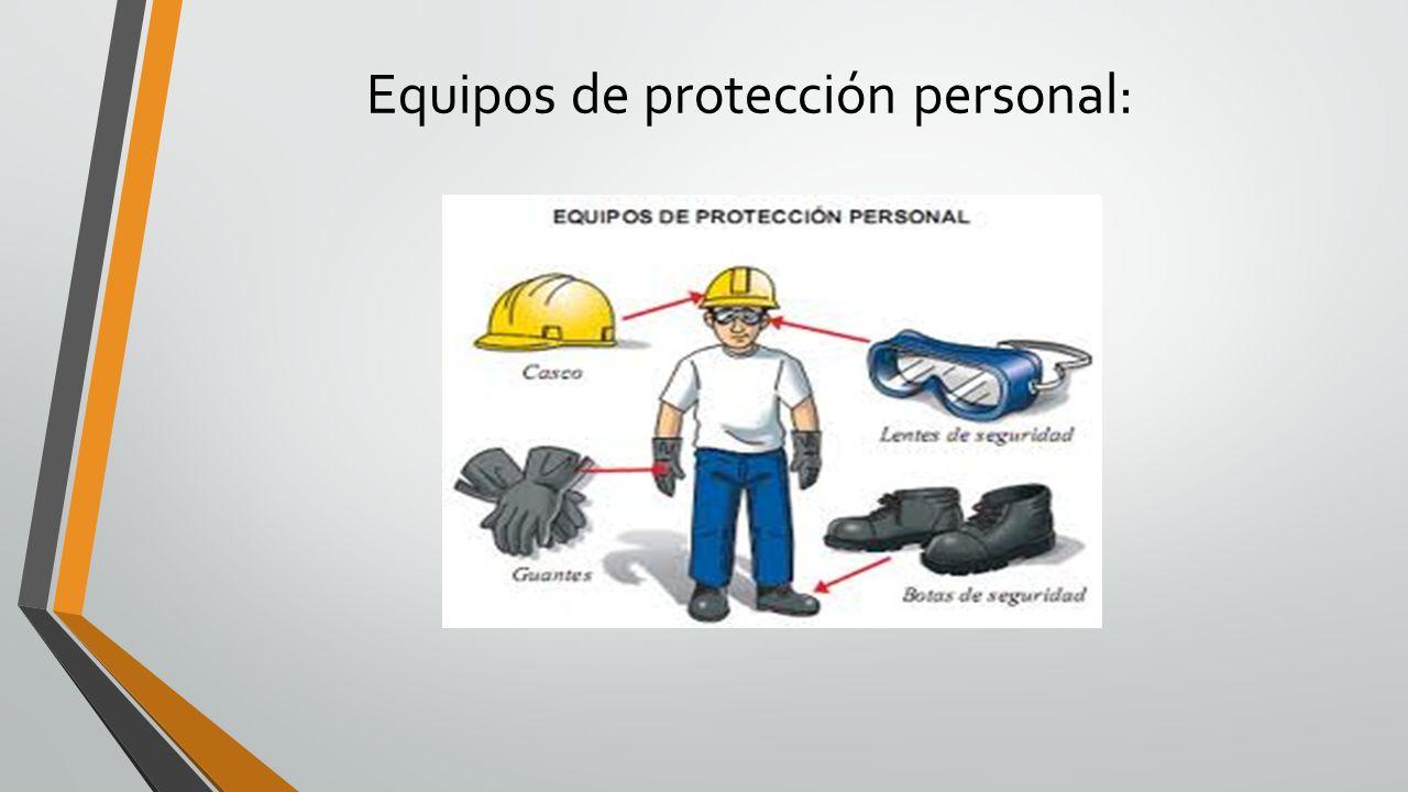 Equipos de protección personal: