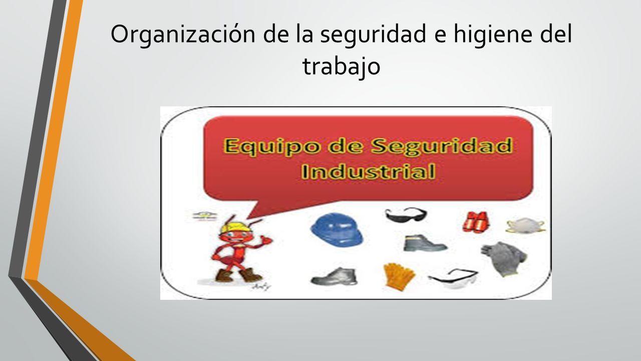 Organización de la seguridad e higiene del trabajo