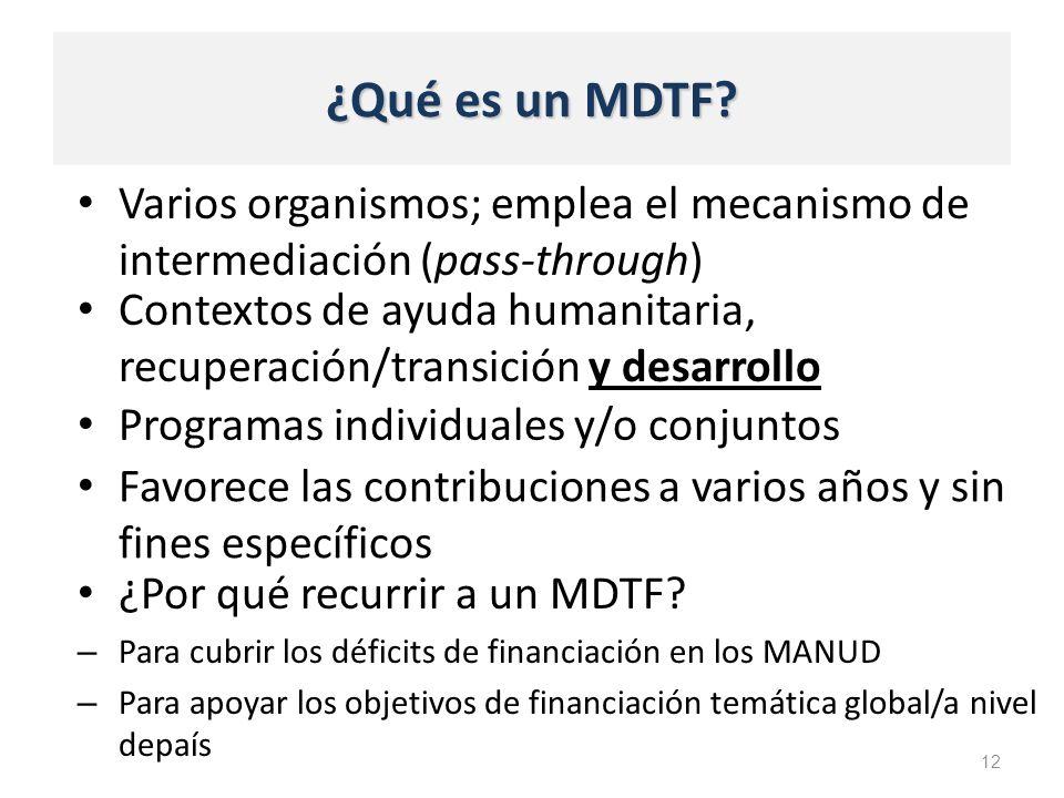 ¿Qué es un MDTF.