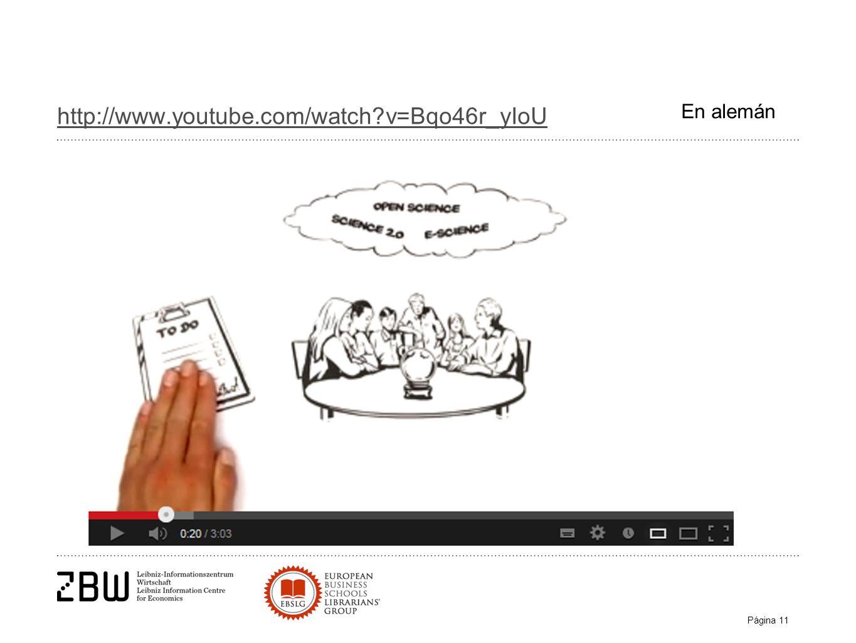 Página 11 http://www.youtube.com/watch?v=Bqo46r_yIoU En alemán