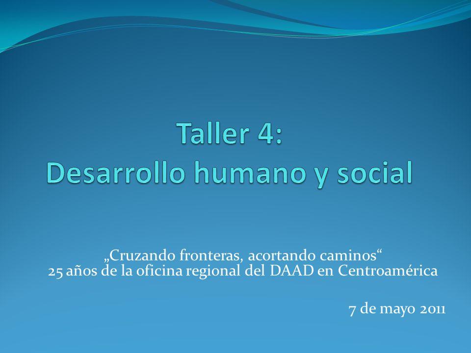Cruzando fronteras, acortando caminos 25 años de la oficina regional del DAAD en Centroamérica 7 de mayo 2011