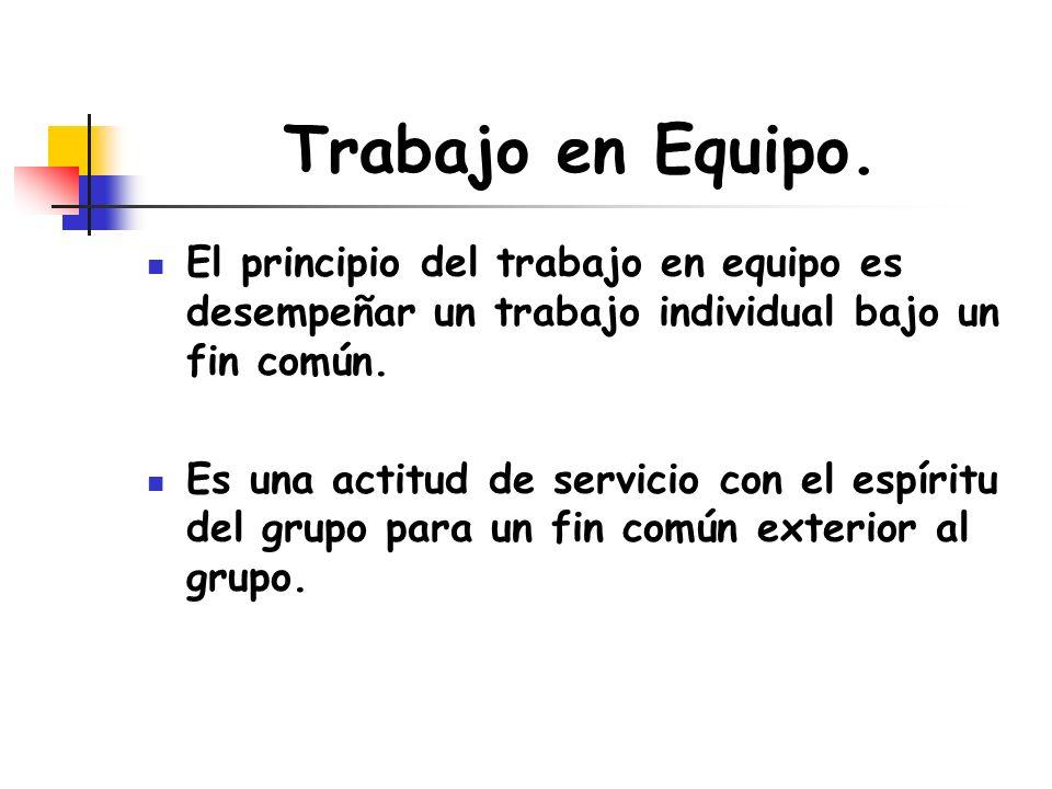 El trabajo en equipo se basa en las 5 C Complementariedad: Cada miembro domina una parcela determinada del trabajo.