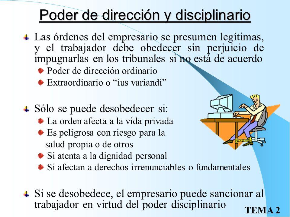 TEMA 2 Actividades laborales especiales Personal de alta dirección Empleados del hogar Penados en instituciones penitenciarias Deportistas profesional