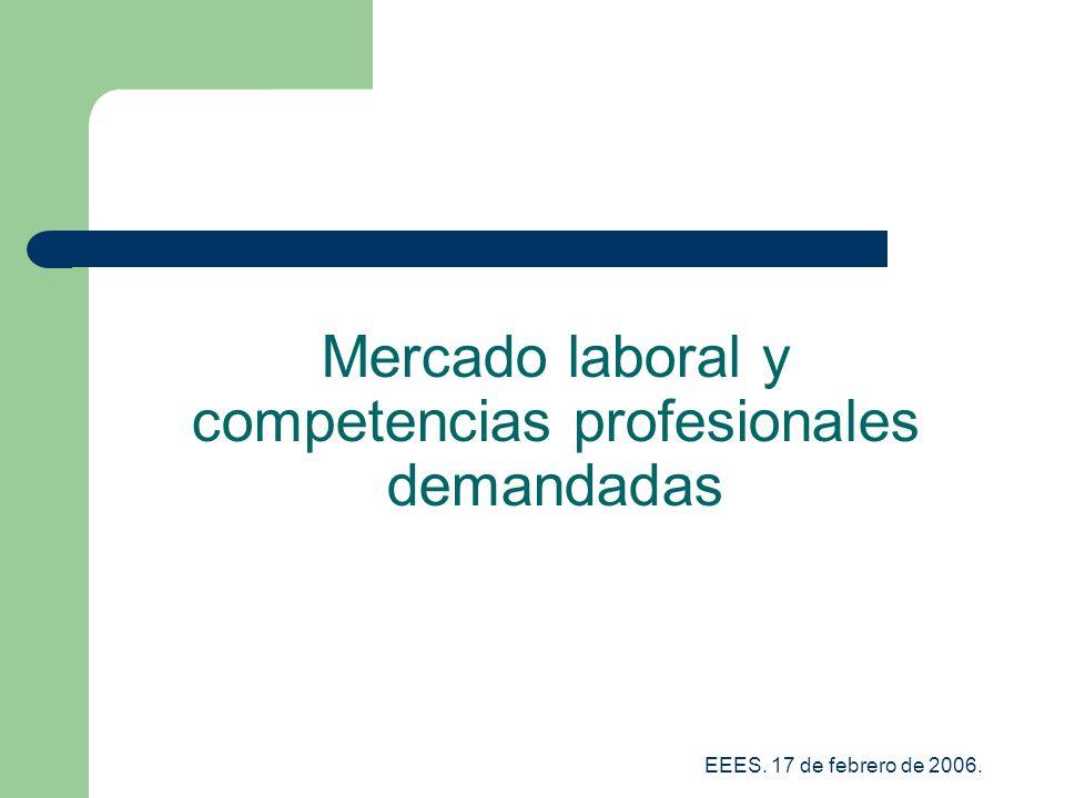 EEES. 17 de febrero de 2006. Mercado laboral y competencias profesionales demandadas