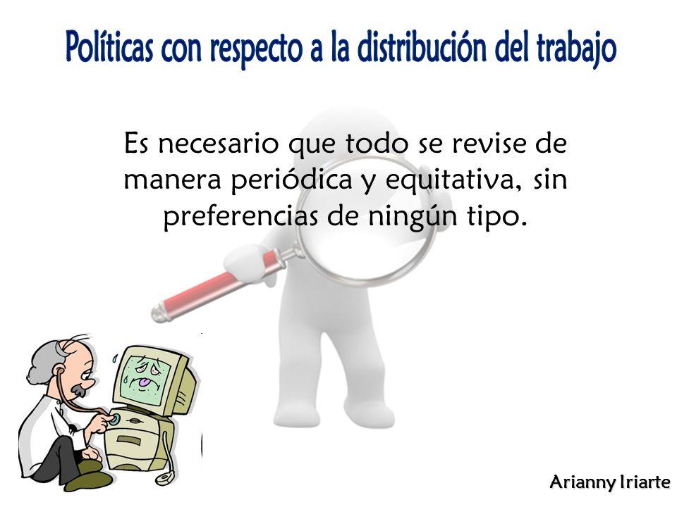 Arianny Iriarte Es necesario que todo se revise de manera periódica y equitativa, sin preferencias de ningún tipo.