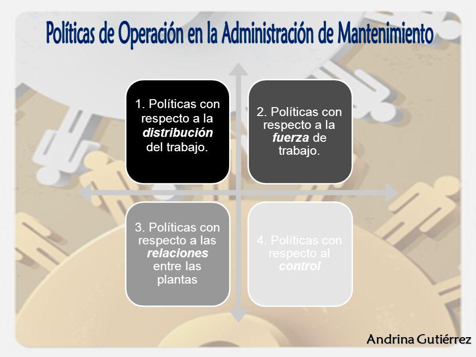 1. Políticas con respecto a la distribución del trabajo. 2. Políticas con respecto a la fuerza de trabajo. 3. Políticas con respecto a las relaciones