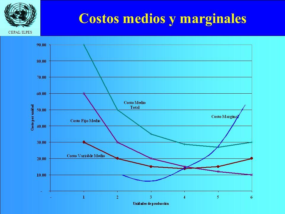 CEPAL/ILPES Costos medios y marginales