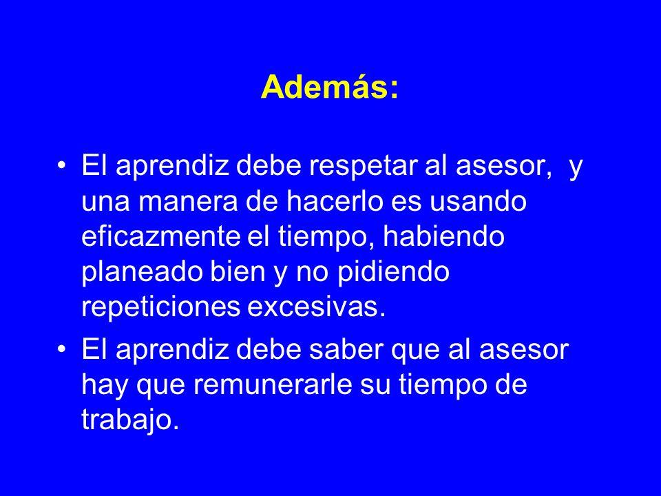 Características de un buen asesor en la lengua 1.Que sea nativo hablante.