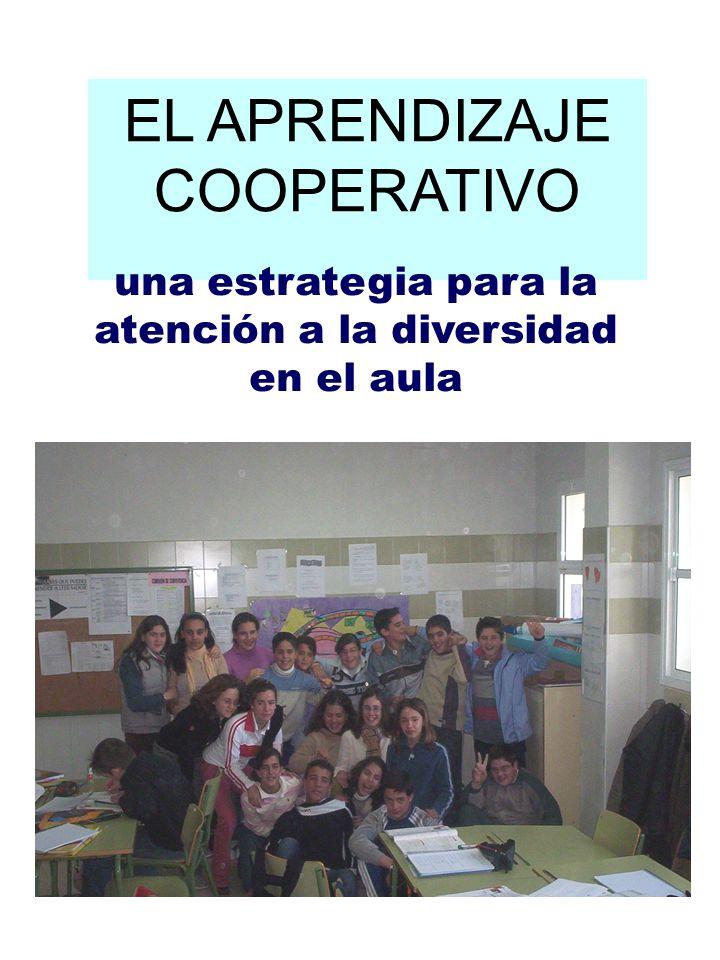ÍNDICE 1.El aprendizaje cooperativo. 1.1. La estructura de aprendizaje.