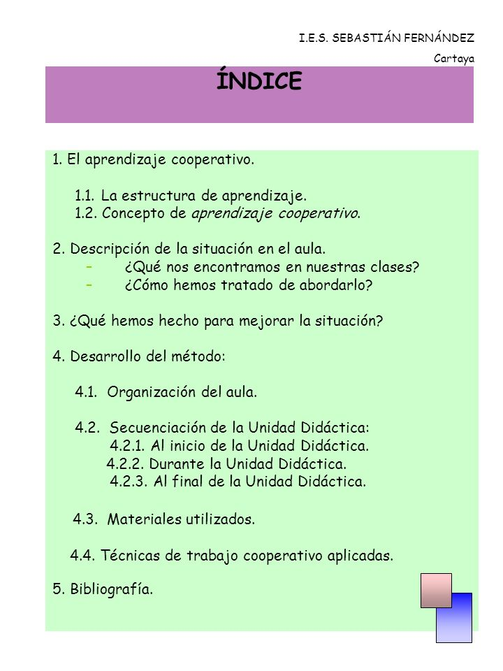 4.4.TÉCNICAS DE TRABAJO COOPERATIVO APLICADAS. EL ROMPECABEZAS.