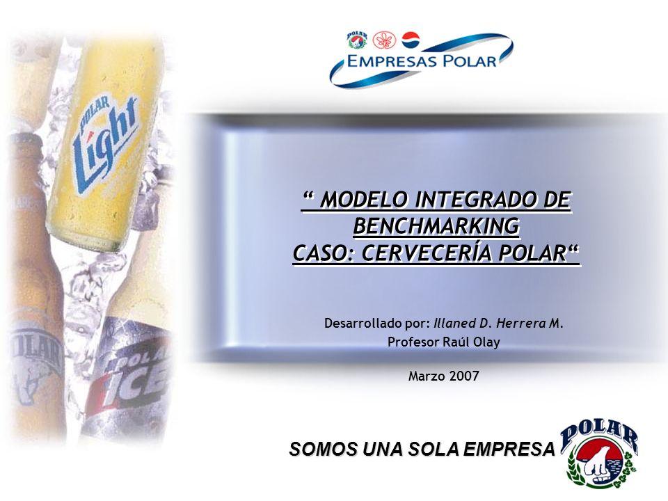 MODELO INTEGRADO DE BENCHMARKING CASO: CERVECERÍA POLAR Desarrollado por: Illaned D. Herrera M. Profesor Raúl Olay Marzo 2007 SOMOS UNA SOLA EMPRESA