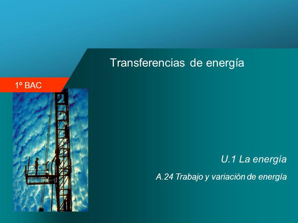 1º BAC Transferencias de energía U.1 La energía A.24 Trabajo y variación de energía