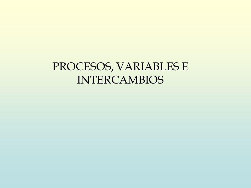 PROCESOS, VARIABLES E INTERCAMBIOS