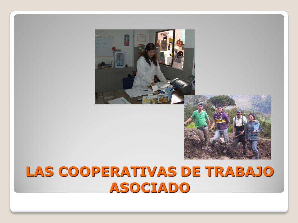 LAS COOPERATIVAS DE TRABAJO ASOCIADO
