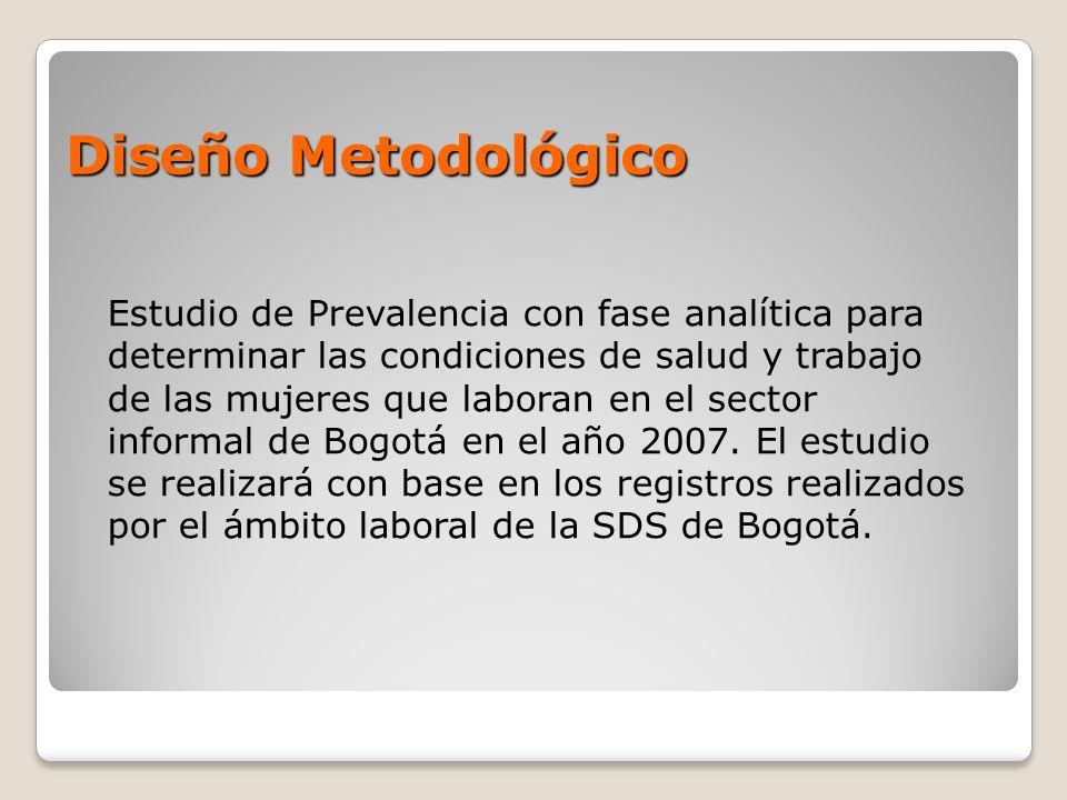 Diseño Metodológico Estudio de Prevalencia con fase analítica para determinar las condiciones de salud y trabajo de las mujeres que laboran en el sect