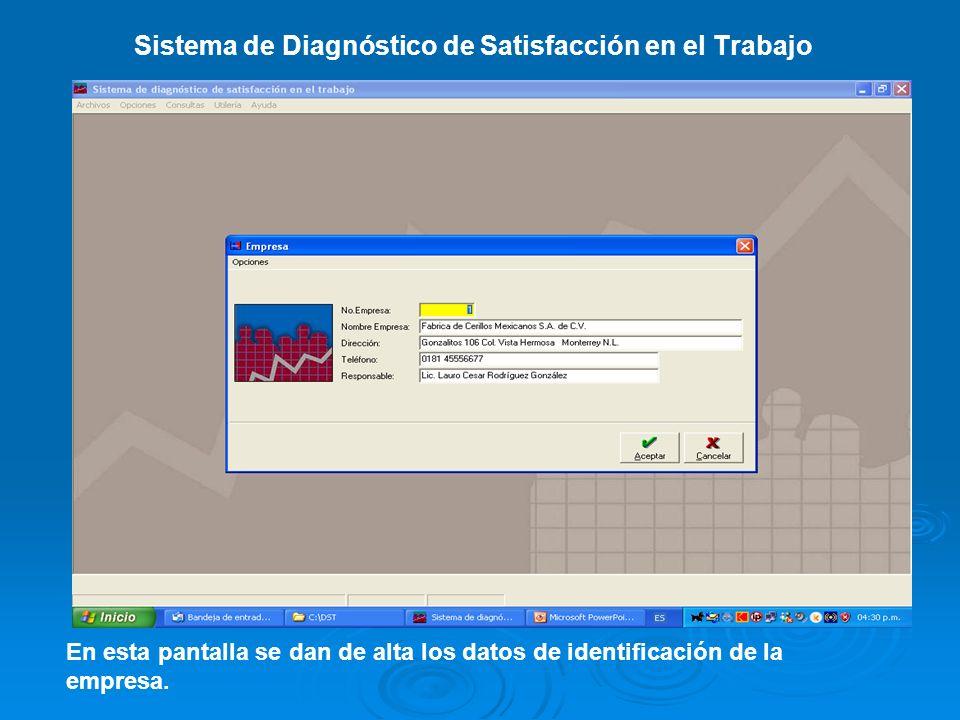Sistema de Diagnóstico de Satisfacción en el Trabajo Presentación gráfica de resultados por Dirección.