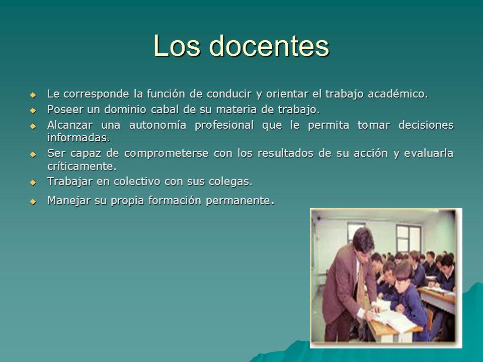 Los alumnos Son los responsables de la construcción del conocimiento.